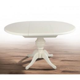 Стол обеденный Анжелика 90(+42)x90х78,5 (белый, бежевый, ваниль)
