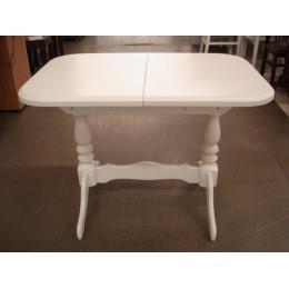 Стол обеденный Аврора 101(+35)х69х74 (белый, бежевый, ваниль)