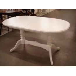 Стол обеденный Даниэль 148(+40)x88x78,5 (белый, бежевый, ваниль)