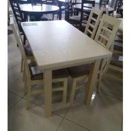 Стол обеденный Классик плюс 140(+50)х85х79 (белый, бежевый)