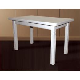 Стол обеденный Классик плюс 120(+40)х70х75 (белый, бежевый)