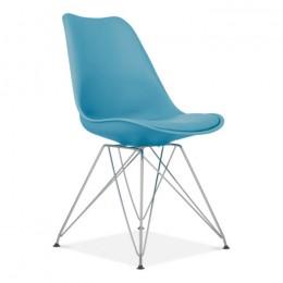 Стул Тауэр C пластиковый с подушкой голубой ГСДМ