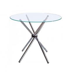 Стеклянный стол обеденный Тог круглый 90 см ГСДМ