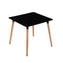 Стол обеденный Нури бук 80х80 см черный ГСДМ