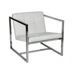 Кресло Нортон мягкое нержавеющая сталь белый ГСДМ