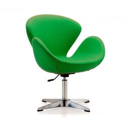 Мягкое кресло Сван металл зеленый ГСДМ