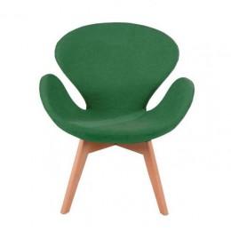 Мягкое кресло Сван Вуд Армз бук зеленый ГСДМ
