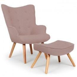 Комплект кресло Флорино с табуреткой-пуфом коричневый ГСДМ
