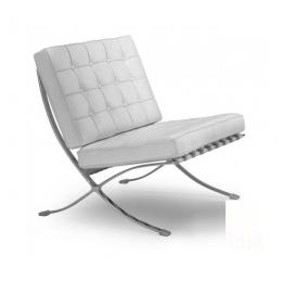 Кресло Барселона белая экокожа ГСДМ