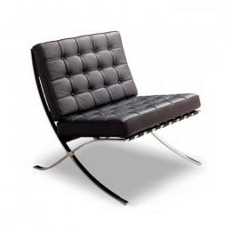 Кресло Барселона черная экокожа ГСДМ