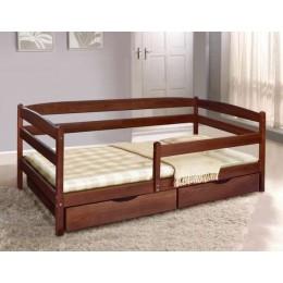 Кровать Ева (бук) с ящиками и боковой планкой 900х2000 МиксМебель