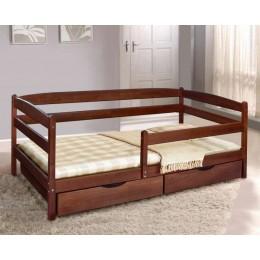 Детская кровать Ева (Бук) с ящиками и боковой планкой 700х1400 МиксМебель