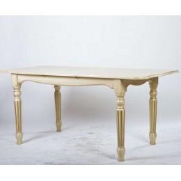 Стол обеденный Венеция (Ясень) слоновая кость+патина 120 МиксМебель
