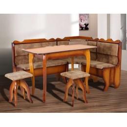 Кухонный уголок Даллас (угол + стол + 2 таб.) (Бук) МиксМебель