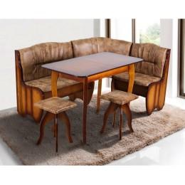 Кухонный уголок Канзас (угол + стол + 2 таб.) (Бук) МиксМебель