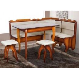 Кухонный уголок Ромео (угол + стол + 2 таб.) (Бук) МиксМебель