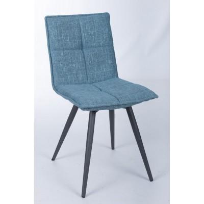 Стул поворотный MADRID (56*44*85 cm-текстиль) рогожка темно-голубой Nicolas