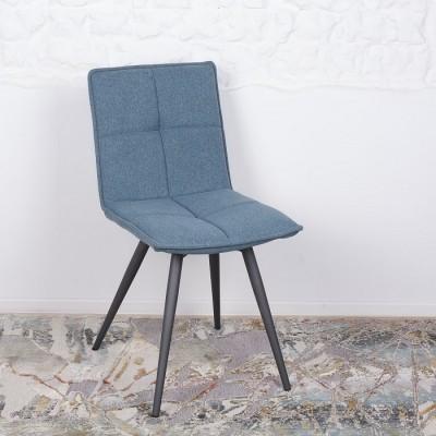 Стул поворотный MADRID (56*44*85 cm-текстиль) синий Nicolas
