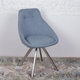 Стул поворотный TOLEDO (58*55*87 cm-текстиль) голубой Nicolas
