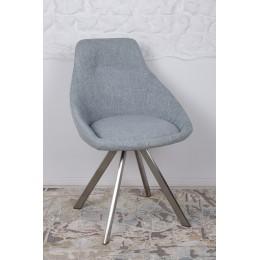 Стул поворотный TOLEDO (58*55*87 cm-текстиль) рогожка бледно-бирюзовый Nicolas