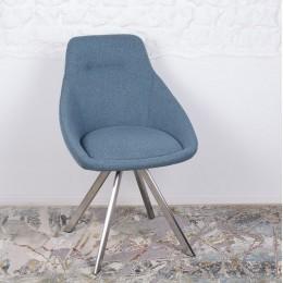 Стул поворотный TOLEDO (58*55*87 cm-текстиль) синий Nicolas