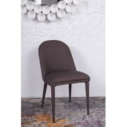 Стул FRANKFURT (49*60*84 cm-текстиль) коричневый Nicolas