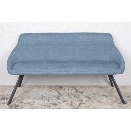 Кресло-банкетка TOLEDO (1550*640*830 текстиль) рогожка темно-голубой Nicolas