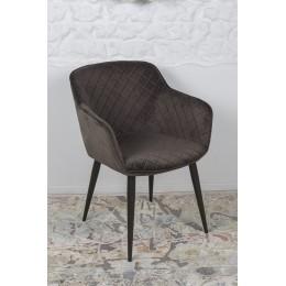 Кресло BAVARIA (58*65*80 cm текстиль) антрацит Nicolas