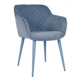 Кресло BAVARIA (58*65*80 cm текстиль) голубой Nicolas