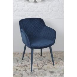 Кресло BAVARIA (58*65*80 cm текстиль) синий Nicolas