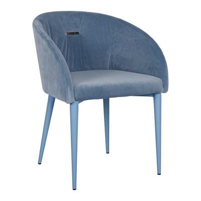Кресло ELBE (58*59*75 cm текстиль) голубой Nicolas