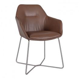 Кресло LAREDO (610*620*880) молочный шоколад Nicolas