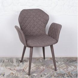 Кресло VALENCIA (60*68*88 cm-текстиль) кофейный Nicolas