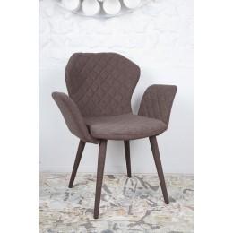 Кресло VALENCIA (60*68*88 cm-текстиль) коричневый Nicolas