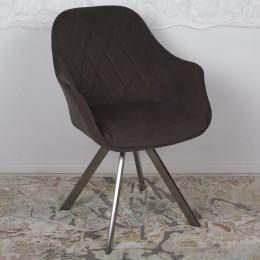Кресло поворотное ALMERIA (610*605*880 текстиль) коричневый Nicolas