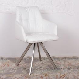Кресло поворотное LEON (600*550*890) белый Nicolas