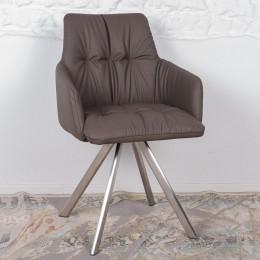 Кресло поворотное LEON (600*550*890) мокко Nicolas