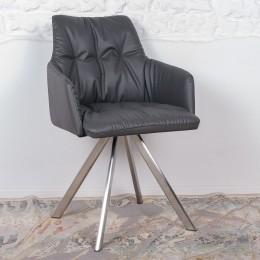 Кресло поворотное LEON (600*550*890) темно-серый Nicolas