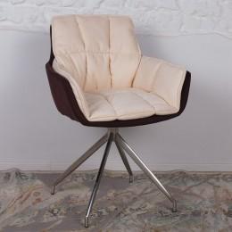 Кресло поворотное PALMA (590*500*880) коричнево-бежевое Nicolas