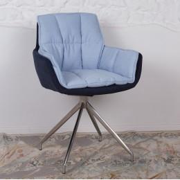 Кресло поворотное PALMA (590*500*880) сине-голубое Nicolas
