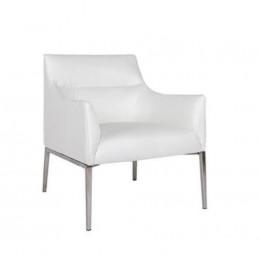 Лаунж-кресло MERIDA (600*510*880см) белый Nicolas