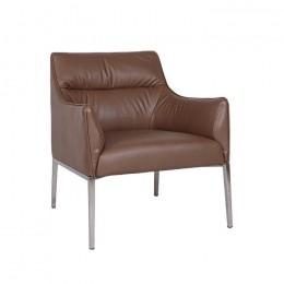 Лаунж-кресло MERIDA (600*510*880см) молочный шоколад Nicolas