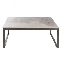 Стол журнальный BRIGHTON R (120*65*45см) керамика светло-серый глянец Nicolas