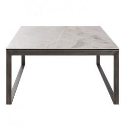 Стол журнальный BRIGHTON S (89.5*89.5*45см) керамика светло-серый глянец Nicolas
