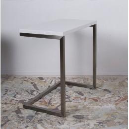 Стол приставной-консоль YORK (59.5*35*60) белый Nicolas