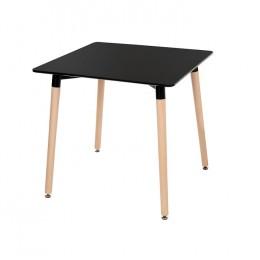 Кухонный стол ТM-30 черный + бук 80*80*76(H) Vetro
